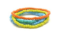 You never go wrong with seed bead bracelets in bright summer colors! Create your Summer Vibe at jaycimay.com   #summertime #summer2019 #bracelets #tropical Beachy Bracelets, Summer Bracelets, Colorful Bracelets, Friendship Bracelets With Beads, Seed Bead Bracelets, Seed Beads, Beach Color, Name Bracelet, Summer Colors