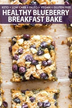 Breakfast Recipes Healthy Blueberrry Breakfast Bake recipe PACKED with wholesome ingredients and just like a soft-baked breakfast bar! Quick to prepare and perfect for meal prep! Healthy Breakfast Bowl, Baked Breakfast Recipes, Breakfast Bake, Oatmeal Breakfast Bars, Healthy Recipes, Healthy Baking, Diet Recipes, Healthy Blueberry Desserts, Blueberry Oatmeal Bars