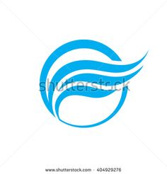 Abstract business vector logo concept illustration. Abstract wing in circle logo sign. Smooth design elements. Vector logo template.