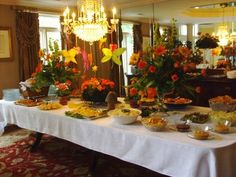 Awesome Elegant Luncheon Buffet  Simple But Pretty!