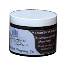 Farmhouse Antiquing Gel creates a layer of depth, aging and beauty to finish off any project. Antiquing Gel darkens the crevices and indentations bringing out all the detail to a decorative piece. Antiquing Gel will show off any ornamental decoration giving contrast and patina to your piece. Water based