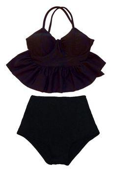 Peplum Swimsuit, Pin Up Swimsuit, Swimsuit Pattern, Swimsuit Tops, Bikini Set, Bathing Suit Dress, Cute Bathing Suits, Cute Swimsuits, Two Piece Swimsuits