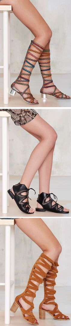 Lace up and rock on in gladiator sandals... the perfect addition to your summer wardrobe.
