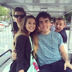 Golf buggy times with @Alfie Dennen . @joe_sugg & @melissa dominic Smales :)