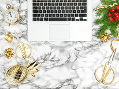 Office desk christmas decorations by LiliGraphie on @creativemarket