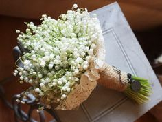 """Sweet """"Vintage"""" Style Wedding Bouquet Of Lily Of The Valley Love Lily, Language Of Flowers, Saint Valentine, Egg Shells, Bride Bouquets, Lily Of The Valley, Spring Flowers, Burlap, Table Decorations"""