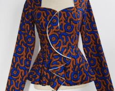 African Design Women Jacket please confirm prices with codes African Fashion Designers, Latest African Fashion Dresses, African Print Dresses, African Print Fashion, Africa Fashion, African Wear, African Attire, African Dress, African Prints