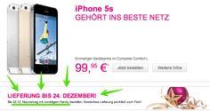 """iPhone 5s: Telekom garantiert Lieferung bis Weihnachten - http://apfeleimer.de/2013/12/iphone-5s-telekom-garantiert-lieferung-bis-weihnachten - Telekom garantiert die iPhone 5s Lieferung bis 24. Dezember – also rechtzeitig zu Weihnachten – für Neukunden bzw. bei Abschluss eines Telekom Neuvertrag. Allerdings nur bei """"vorrätigem Handy"""" – also bei der Bestellung nochmals genauestens darauf achten ob das i..."""