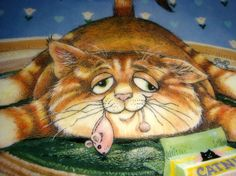 Gary Patterson Cats | Gary Patterson Comical Cats What Else Kitten Happiness VY Funny Plate ...