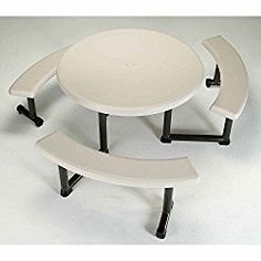 44″ Round Picnic Table, 8/Pk – Lot of 8