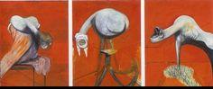 Francis Bacon - Trois études de figures au pied d'une crucifixion (1944) 95 × 73,5+73,5+73,5 cm Tate Britain Londres