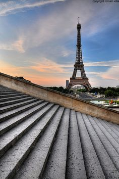 The Eiffel Tower, Paris, France by romain villa