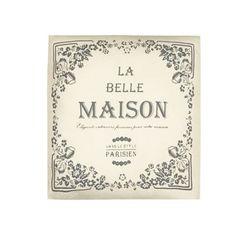 Home Collection Beige 'La Belle Maison' printed cushion | Debenhams