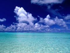 Clouds Over Ocean, Cook Islands Photographic Print