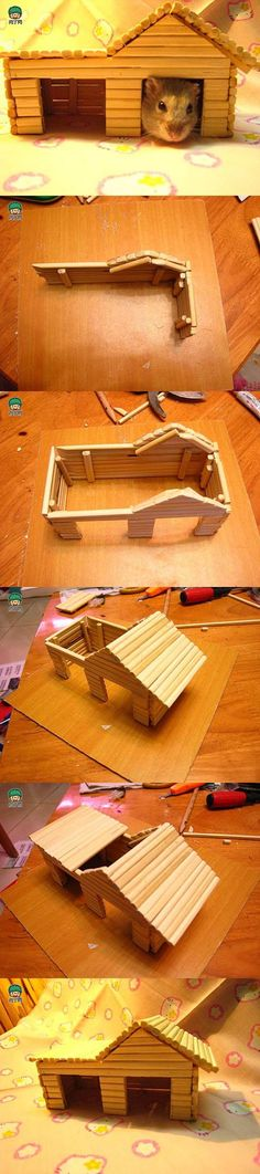 DIY Hamster House with Chopsticks | iCreativeIdeas.com Like Us on Facebook ==> https://www.facebook.com/icreativeideas