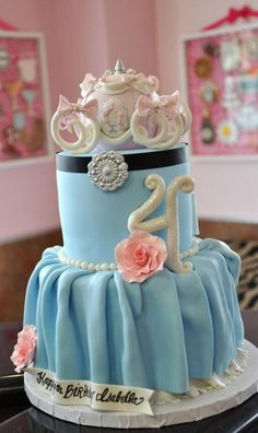 cute cinderella cake! But with a shoe on top