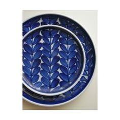 ルリ木の葉 プレート - 白山陶器