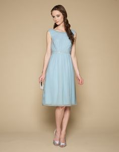 Antonia Short Dress - Blue Bridesmaid - Monsoon