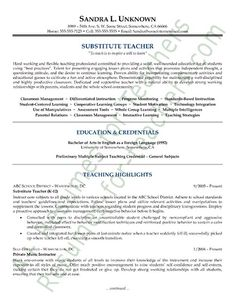 Resume Format For A Teacher Inspiration Awesome Grabbing Your Chance With An Excellent Assistant Teacher .