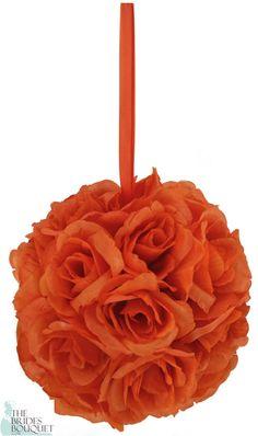 TheBridesBouquet.com - Orange Silk Rose Bud Kissing Ball - Pomander                            , $9.99 (http://www.thebridesbouquet.com/orange-silk-rose-bud-kissing-ball-pomander/)