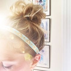 Top knots are my fave!  Hand-Beaded Turquoise Tribal Headband available in the shop! >>link in bio<< #yokieb #headband #hair #topknot #etsy #acolorstory #etsyfinds #handmade