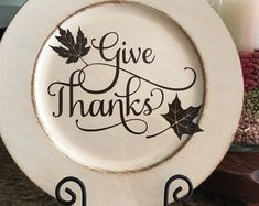 13 Thankful and Blessed Charger Plate Charger Plate Crafts, Charger Plates, Fall Craft Fairs, Fall Crafts, Holiday Ideas, Christmas Ideas, Christmas Crafts, Wooden Wreaths, Thankful And Blessed