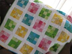 Great baby quilt  9 square