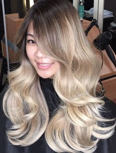 Hair 2001 - Westminster, CA, United States. Asian blond Ombre balayage by DavidChu(714)775-5454
