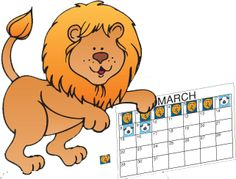Lion or Lamb Calendar Markers; use this to graph the month
