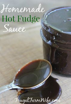 This Homemade Hot Fudge is amazing! So fudgey and buttery - I could eat it with a spoon! Perfect for hot fudge sundaes!