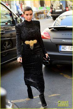 Kim Kardashian wearing Tom Ford Fall 2011 Ankle Boots Balmain Devore Velvet Gown