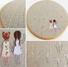 Sisters embroidery