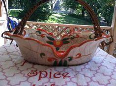 Vintage Oriental Oval Basket
