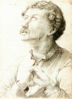 Man Looking Up by Matthias Grünewald