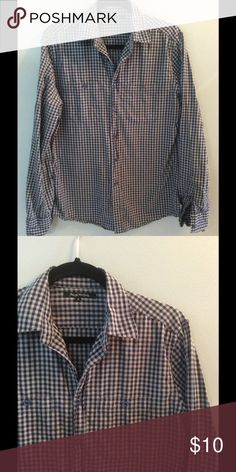 Men's grey and black checked shirt Cotton shirt with grey and black checks. No flaws! Foreign Exchange Shirts Casual Button Down Shirts