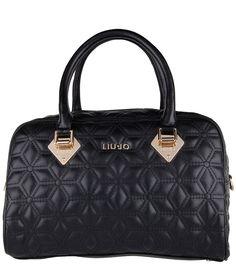 Een chique tas met doorgestikt ruitpatroon; dat is de Jasmin Small Boston Bag van Liu Jo. De tas is afgewerkt met goudkleurige metalen en een hoofdvak met rits (€161,00)