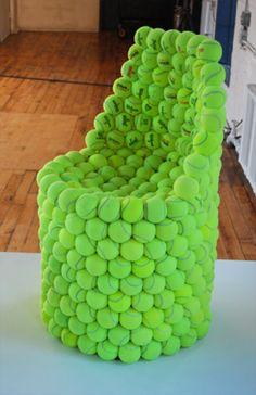 Hex Tennis Chair by Hugh Hayden: $1600 #Chair #Tennis_Ball #Hugh_Hayden - for Katie