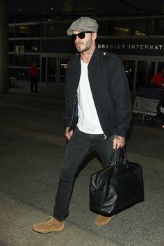 David Beckham is seen at LAX - September 2016