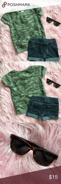 Camoflauge shirt, shorts, and sunnies Cool outfit for a cool girl  Like: Nordstrom Gymboree Janie and Jack BabyGap Tom's Livy and Luca Mini Melissa Joyfolie Matilda Jane Splendid  Rowdy Sprout Mudpie Matching Sets