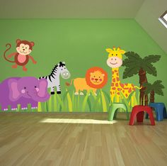 Zoo Animals Wall Decal Murals African Animials Wall by PrimeDecal