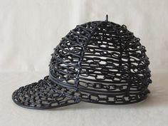 Minimal Sculpture 'Baseball Cap,' Sport Costume, Metal Art