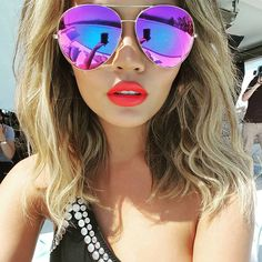 Get the Look: Chrissy Teigen's Victoria Beckham Aviator Sunglasses