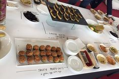 Write on table covers to indicate which allergens are present in your buffet items. Be transparent up front and significantly reduce the questions you and your staff get! Photo: Tracy Stuckrath