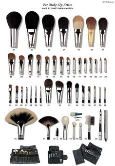 An Explanation Of The Proper Use For Every #Makeup Brush.