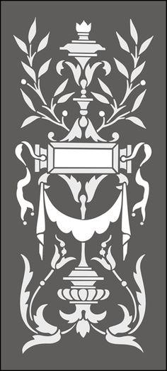 Regency y Panel Empire No 1 plantillas, stensils y stencles