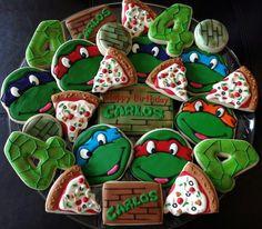 63 super Ideas for birthday cake boys teenagers turtle cookies Turtle Birthday Parties, Ninja Turtle Birthday, Ninja Turtle Party, 4th Birthday, Birthday Cake, Birthday Ideas, Birthday Crafts, Birthday Nails, Ninja Turtle Cookies
