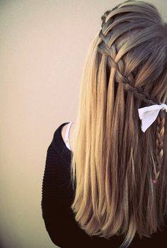 Great collection of cascade & braid hairstyles gallery