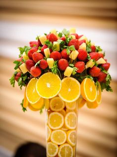 Hosting any #birthday bash? Create an amazing #fruit #bouquet like this and make it the centre of #attraction…It will surely amaze everyone!   Think Fruits....Think #Falafal
