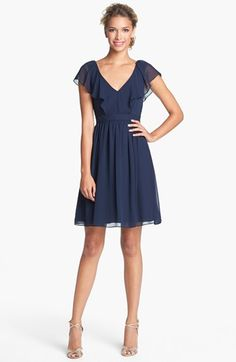 Bridesmaids Jenny Yoo 'Isabel' Ruffled Chiffon Fit & Flare Dress (Online Only) available at #Nordstrom