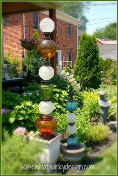 DIY:: Dress Up Your Garden With Glass
